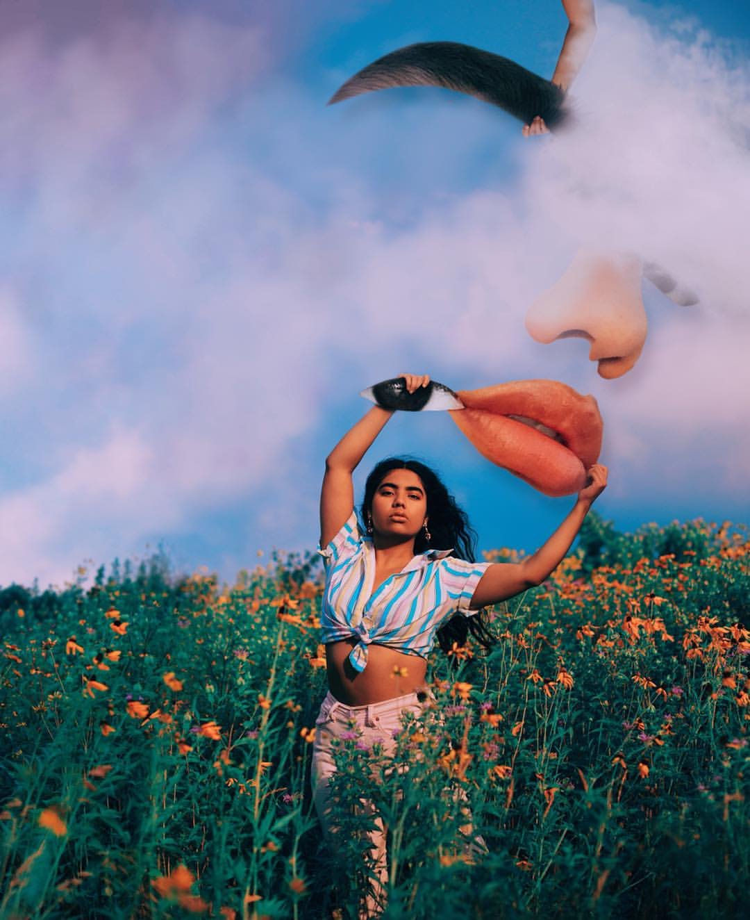 Glenda Lissette's technicolour portraits  bring her dreams and insecurities to life